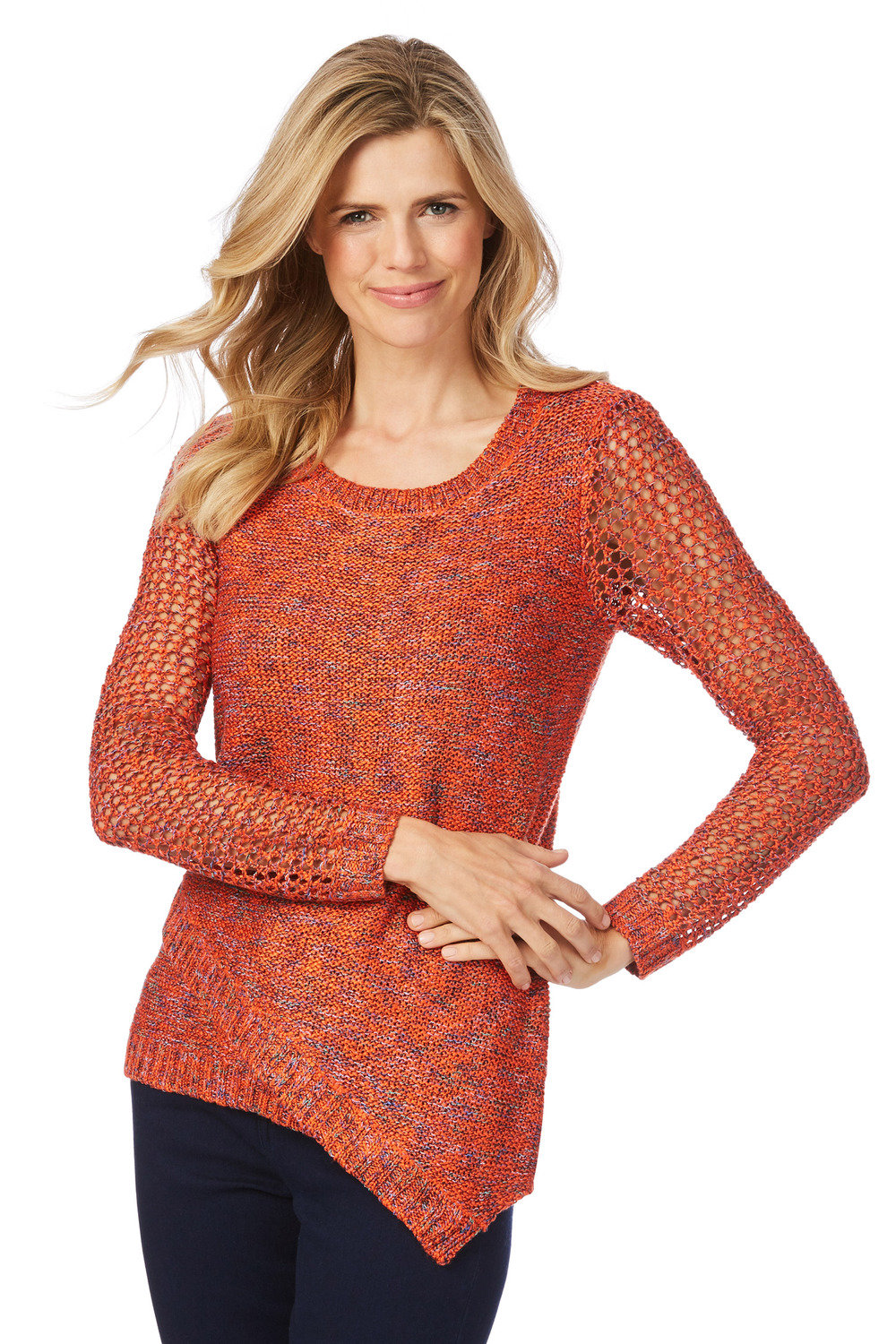 cfece5409ab Rockmans Long Sleeve Multi Mix Asymmetric Knit Online | Shop EziBuy