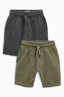 Next Khaki/Grey Shorts Two Pack (3mths-6yrs)