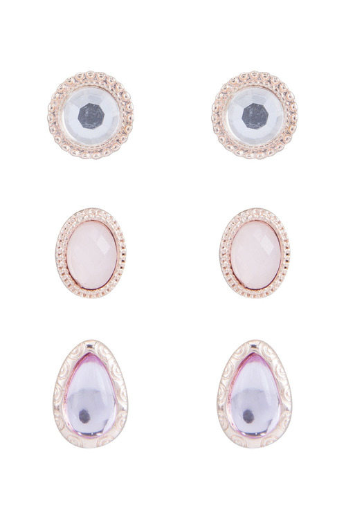 Amber Rose Essential Rhinstone Earring Set