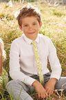 Next Long Sleeve Smart Shirt With Lemon Print Tie (3-16yrs)