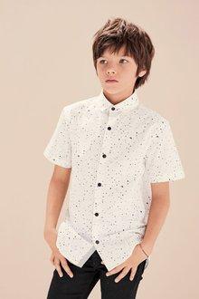 Next Short Sleeve Paint Splat Shirt (3-16yrs)