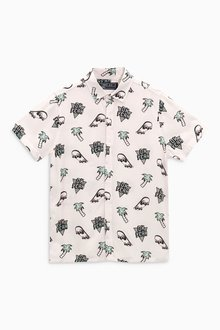 Next Short Sleeve Fun Printed Shirt (3-16yrs)