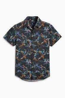 Next Short Sleeve Lizard Print Shirt (3-16yrs)