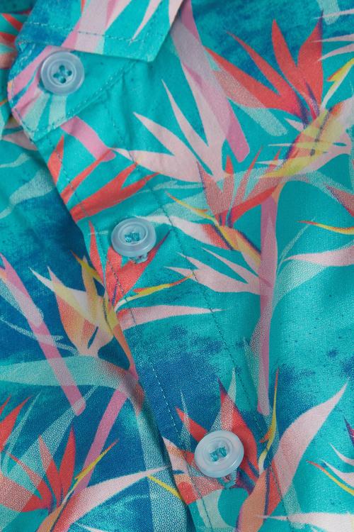 Next Bright Printed Short Sleeve Shirt (3-16yrs)