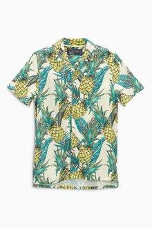 Next Short Sleeve Pineapple Print Shirt (3-16yrs)
