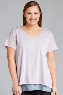 Plus Size - Sara Double Layer Tee