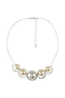 Amber Rose Multi Ball Statement Necklace