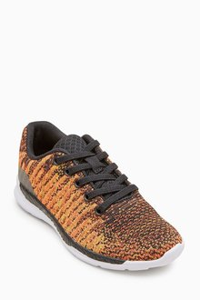 Next Knitted Elastic Lace Trainers (Older Boys)