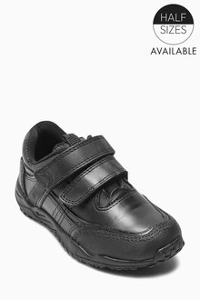 Next Sporty Double Strap Leather Shoes (Older Boys) - Standard