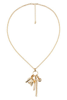 Amber Rose Charmed Pendant Necklace
