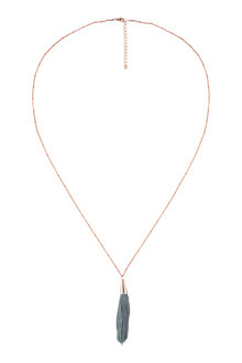 Amber Rose Cord Tassel Necklace