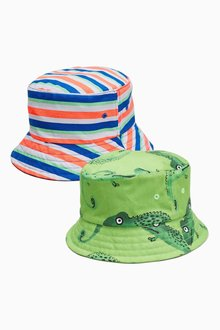Next Lizard/Stripe Fisherman's Hats Two Pack (Younger Boys)