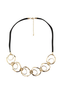 Amber Rose Multi Ring Necklace