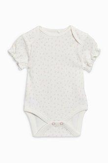 Next Bunny Short Sleeve Bodysuits Three Pack (0mths-2yrs)