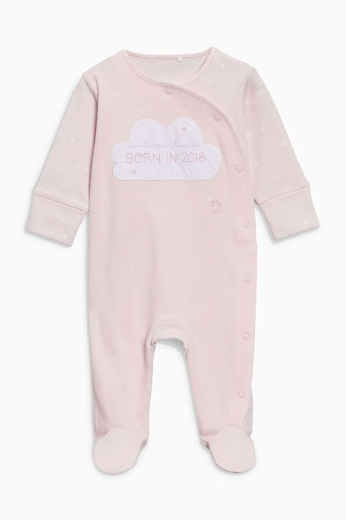 Next Pink Born In 2018 Sleepsuit (0-9mths)