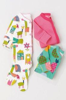 Next Print Sleepsuits Three Pack (0mths-2yrs)