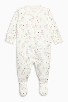 Next Floral Bunny Sleepsuits Three Pack (0mths-2yrs)