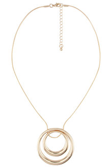 Amber Rose Circle Pendant