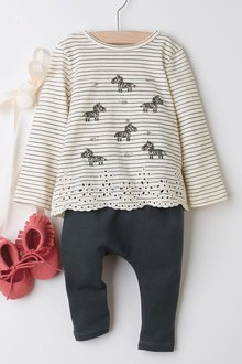 Next Zebra Jersey T-Shirt And Leggings Set (0mths-2yrs)