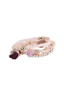 Amber Rose Multi Strand Stretch Bracelet