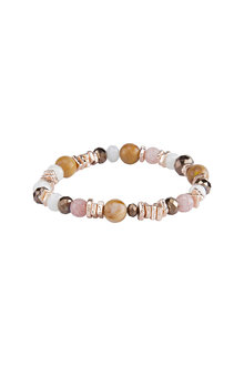 Amber Rose Stretch Semi-Precious Bracelet
