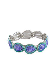 Amber Rose Stoneset Teardrop Stretch Bracelet