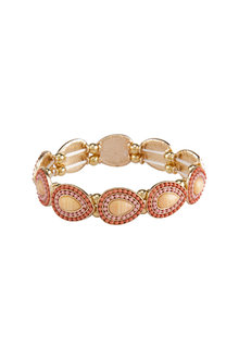 Amber Rose Stoneset Teardrop Stretch Bracelet