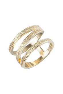 Amber Rose Sparkle Corkscrew Finger Ring