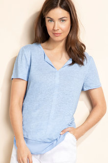 Capture Linen Trim Detail Tee