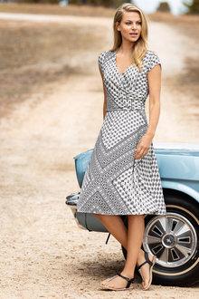 Capture Wrap Detail Swing Dress - 206857