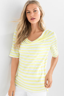 Capture Cowl Neck Linen Tee