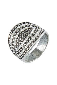 Amber Rose Two Tone Finger Ring