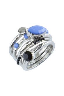 Amber Rose Multi Dot Ring Set