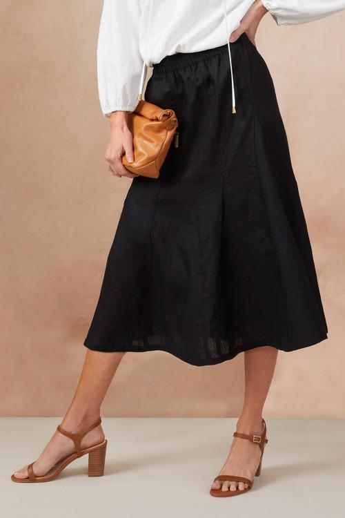 Capture Linen Pull On Skirt