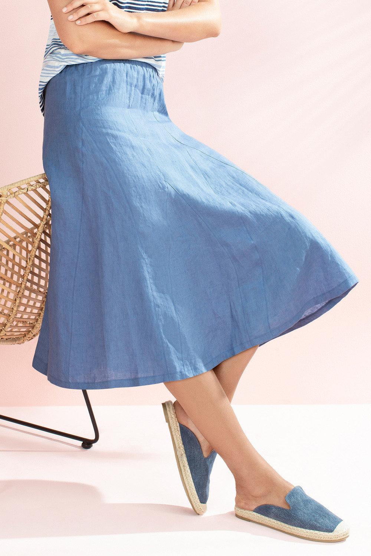 f437cae143 Capture Linen Pull On Skirt Online