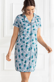 Mia Lucce Short Sleeve Cotton Jersey Nightshirt
