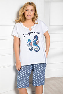 Plus Size - Sara PJ Set