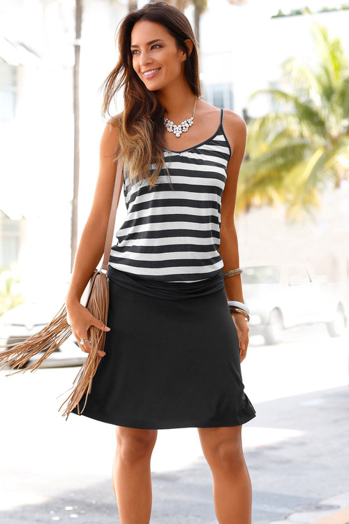 Urban Stripe Beach Dress