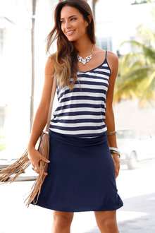 Urban Stripe Beach Dress - 206917