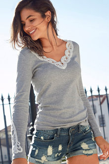 Urban Lace Trim Top