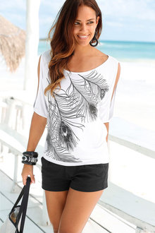 Urban Feather Print Top