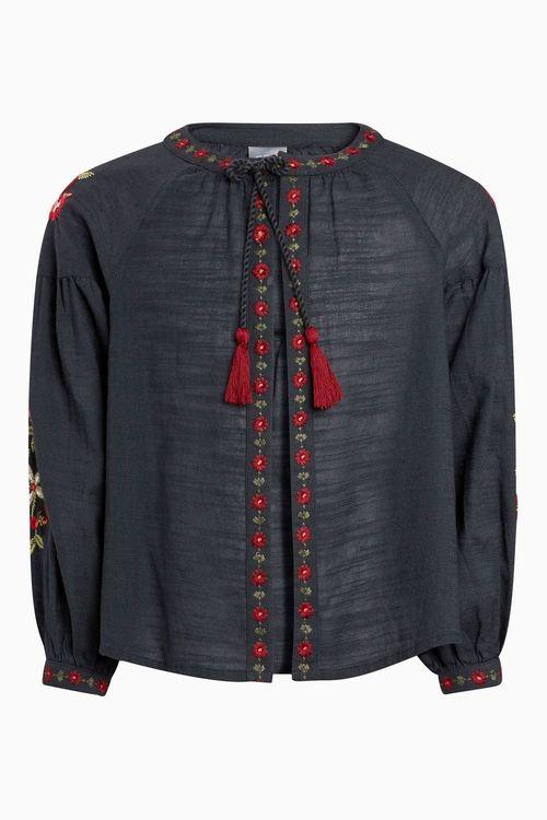 Next Floral Embroidered Kimono (3-16yrs)
