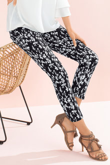 Capture Sateen Printed Ankle Pant