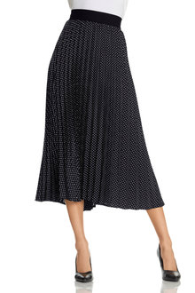 Capture Pleated Skirt With Exposed Elastic Waistband