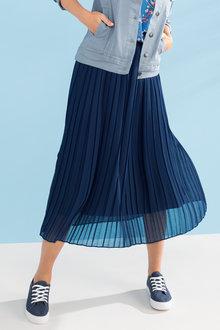 Capture Pleated Skirt With Self Fabric Waistband