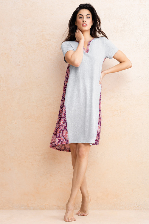 Mia Lucce Woven Back Printed Nightie