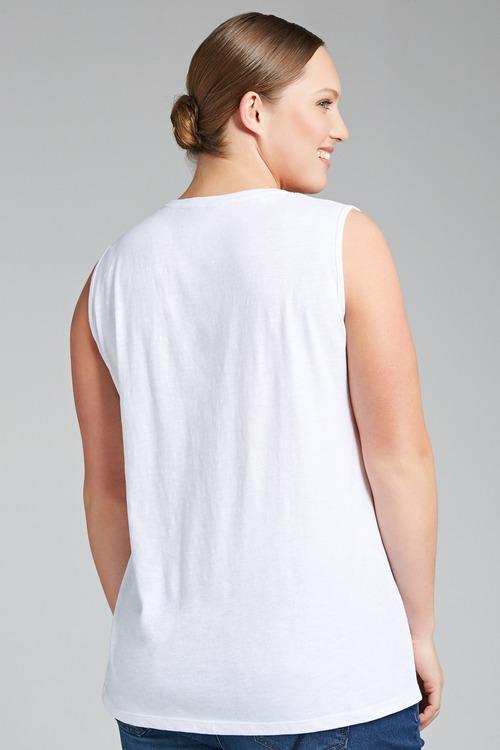 Plus Size - Sara Embroidered Tank