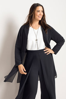 Plus Size - Sara Chiffon Jacket