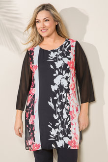 Plus Size - Sara Scoop Hem Tunic - 207063