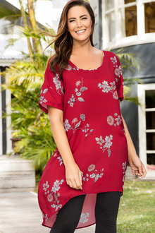 Plus Size - Sara Hi-Low Tunic
